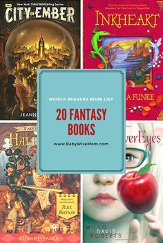 20 Fantasy Books for Middle Readers   Fantasy book list   book list   middle readers   #chapterbooks #bookstoread