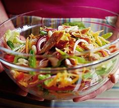 A colourful and tasty super-healthy salad