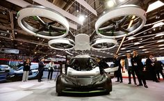 1. Airbus got creative with its latest concept car: an electric two-seater that can be airlifted by a drone. Called the Pop.Up System, the car has a range of 100 kilometers (62 miles.)