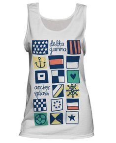 Nautical Tank Top.  Too Cute!