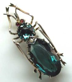 white gold insect pin