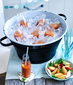 Peach-Ginger Punch with Rye Recipe | Gourmet Traveller #cocktails #punch #peaches #ginger #summer #rye #whiskey
