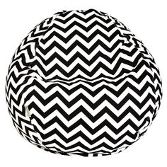 Zig Zag Indoor/Outdoor Bean Bag in Black