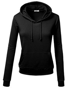 Women's Athletic Hoodies - JTOMSON Womens Basic Long Sleeve Pullover Hoodie S3XL  9 Colors -- Learn more by visiting the image link. (This is an Amazon affiliate link)
