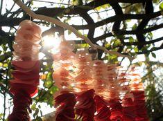 garden wedding reception ideas | outdoor wedding reception decor ombre hanging backdrop | OneWed.com