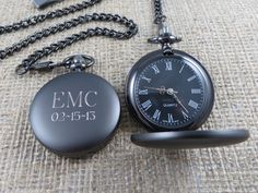 Personalized Pocket Watch - Monogrammed - Gifts for Men - Groomsmen Gifts - Best man (775) auf Etsy, 24,44 €