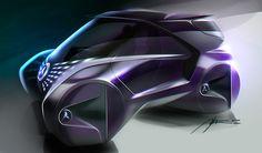 Mercedes-Benz, tiny car on Behance