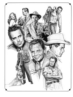 Glenn Ford by NachoCastro on DeviantArt Hollywood Icons, Golden Age Of Hollywood, Classic Hollywood, Hollywood Stars, Star Illustration, Illustration Pictures, Human Face Drawing, Cool Pencil Drawings, Cinema Tv