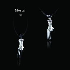 "ECKS ""Mortal"" sterling silver men's wolverine hand pendant. #ECKS #mortal #mensjewelry #wolverine #atphoenixjewellers"