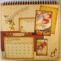 September Calendar with Graphic 45 papers