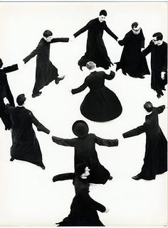 Photography. Young priests dancing, by Mario Giacomelli