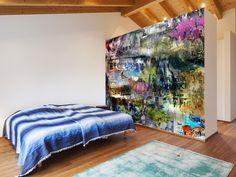 Grunge wall mural room setting