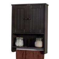 Wall Mount Espresso Bathroom Medicine Cabinet Storage Organizer