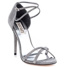 sandals: Badgley Mischka Women's Dominique Sandal,Pewter M US Ankle Strap Heels, Ankle Straps, High Heels Stilettos, Stiletto Heels, Formal Heels, Meet Women, Pewter Metal, Beautiful Heels, Fashion Sandals