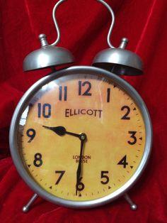Ellicott London 8015E Clock With Twin Bells by 2BarnPickers on Etsy https://www.etsy.com/listing/212314440/ellicott-london-8015e-clock-with-twin