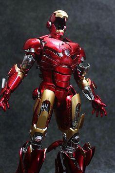 "Hot Toys Ironman mark II ""Unleashed"" Custom Colors and modifications Anazasi Custom Iron Man Fan Art, Iron Man Cartoon, Mundo Marvel, Stark Industries, Iron Spider, Spiderman Art, Marvel Comic Character, Man Images, Marvel Comics"