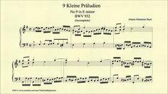 """Bach, """"Prelude in E minor, BWV 932, Piano"""""""