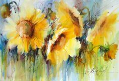 acuarelas de flores sencillas - Buscar con Google
