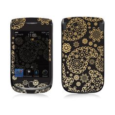 Image detail for -Blackberry Torch skins Pasley (Black & Gold)