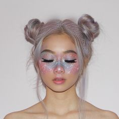 Halloween Makeup Looks Creative Makeup Looks halloween Makeup Makeup Clown, Unicorn Makeup, Hair Makeup, Halloween Makeup Unicorn, Fairy Costume Makeup, Costume Make Up, Unicorn Facepaint, Cool Makeup, Unicorn Halloween Costume