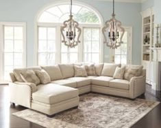 Living Room Sectional Design Ideas 46 Stunning Sectional sofa Decor Ideas with Images Sectional Sofa Decor, Living Room Sectional, Tan Sectional, Living Room Sets, Living Room Designs, Living Room Decor, Ashleys Furniture Living Room, Family Room Furniture, Family Rooms