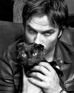 ian somerhalder and her beautiful cat eyes