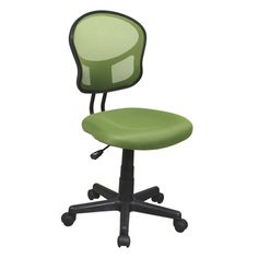 Improve your productivity, and add flair to your office with this practical mesh chair. The mesh back will keep you comfortable, while the four casters let the chair move easily.
