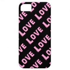 #Pink #Love: Black #iPhone #5 #Case