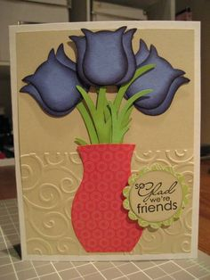 Friendly tulips by cards4meagain - Cards and Paper Crafts at Splitcoaststampers