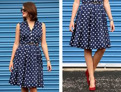 What I Wore: Red, White and Blue by What I Wore, via Flickr #polkaDots