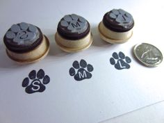 Personalized Dog Stamp with Pet's Name Paw Print by etchythings, $6.00