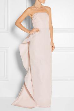 MARCHESA Ruffled silk-faille gown  $3,995.00 https://www.net-a-porter.com/products/609609