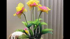 How to make nylon stocking flowers - Rose - YouTube