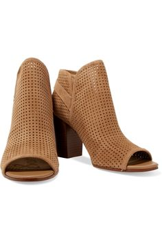 5de82f2bafa28 Shop on-sale Sam Edelman Easton perforated suede ankle boots. Browse other  discount designer