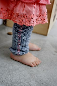 Cross Stitch Baby Legwarmers (knitting pattern): free Ravelry download.