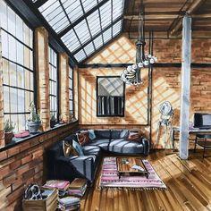 Image: 1 person indoor Interior Architecture Drawing, Interior Design Renderings, Drawing Interior, Interior Rendering, Interior Sketch, Modern Architecture House, Architecture Design, Architecture Student, Sustainable Architecture
