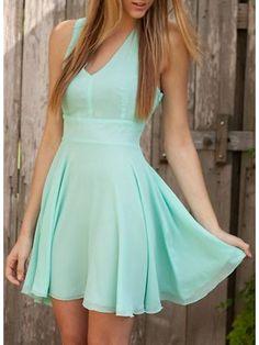 Short Bridesmaid Dress, mint bridesmaid dress,chiffon bridesmaid dress,open back…