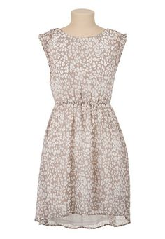 High-Low Chiffon Animal Print Dress available at #Maurices