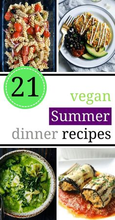 These light Vegan Summer Dinner Recipes and Ideas are perfect for those hot days when you want just want to stay out of the kitchen. Make these healthy and easy Light Summer meals in only under 30 minute! | The Green Loot #vegan