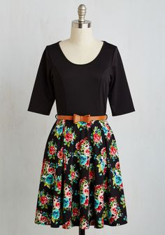 Abiding Beauty Dress in Bouquets. Certain styles are so spectacular that they never need improving - like this fab floral A-line dress! #multi #modcloth