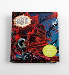 Spawn Comic Portemonnaie vegan upcycling wallet made von Hunkepunk