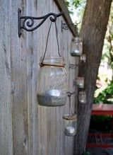 mason jars for outdoor lanterns