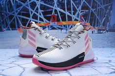 8330bf8d21a8 2018 New adidas D Rose 9 White Black Pink BB7658 Derrick Rose