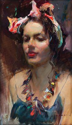 (USA) by Daniel F. Gerhartz (1965- ). Oil on canvas. born in Wisconsin.