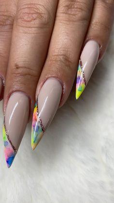 Cute Acrylic Nail Designs, Pretty Nail Designs, Pretty Nail Art, Best Acrylic Nails, Halloween Acrylic Nails, Nail Designs Spring, Cool Nail Art, Pink Nail Art, Pink Nails