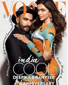 Ranveer  and Deepika covers Vogue India October 2015  #ranveer #deepika