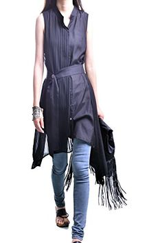 Idea2lifestyle Womens Layered Shirt Dress Bamboo Dream Black >>> Check out the image by visiting the link.