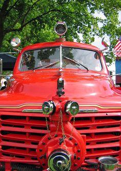 vintage studebaker fire engine