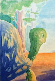 """Ilustración tapa """"La tortuga gigante"""", Horacio Quiroga."""
