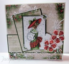 LOTV - Christmas Girls Edwardian by Jacqui Dennis Christmas Animals, Christmas Colors, All Things Christmas, Winter Christmas, Christmas Girls, Mo Manning, Xmas Cards, Fall Cards, Animal Cards